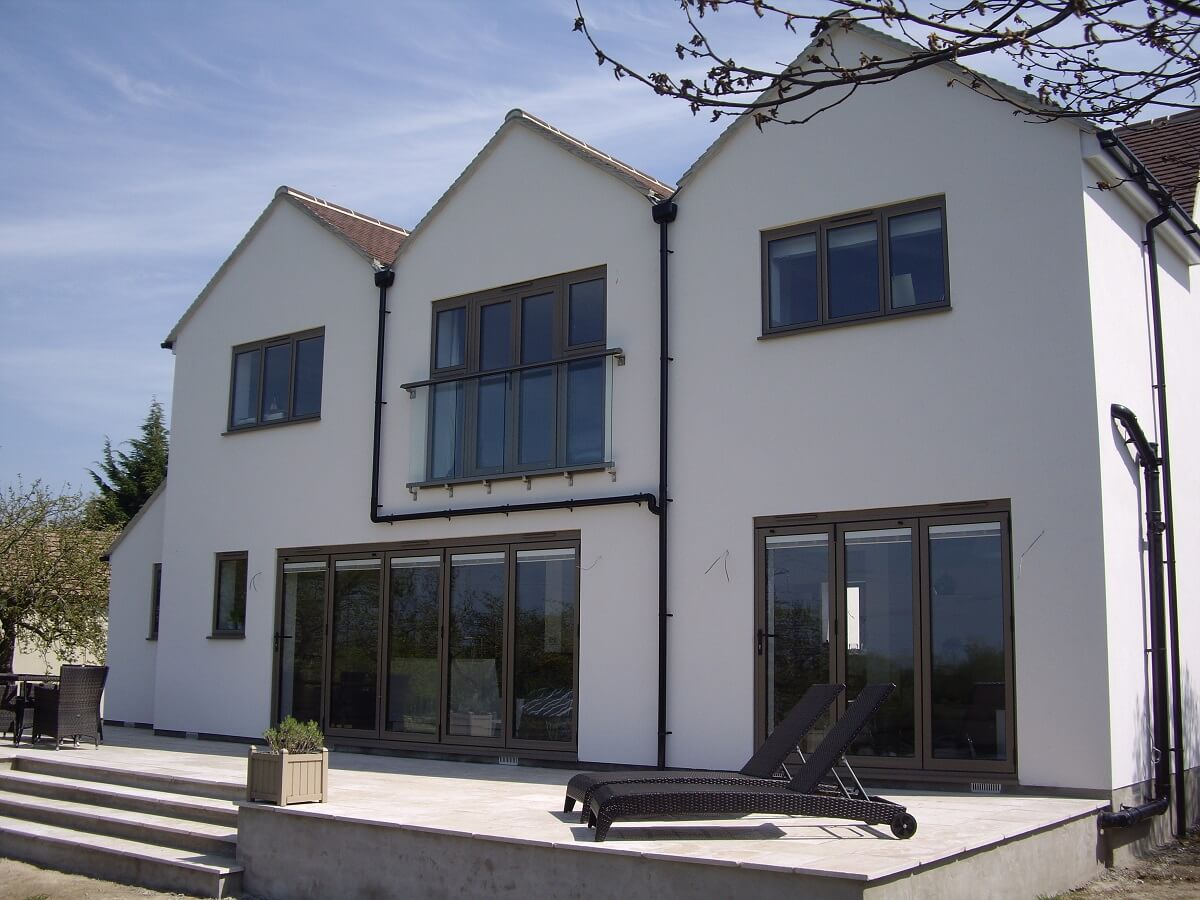 Aluminium windows in bespoke RAL colour