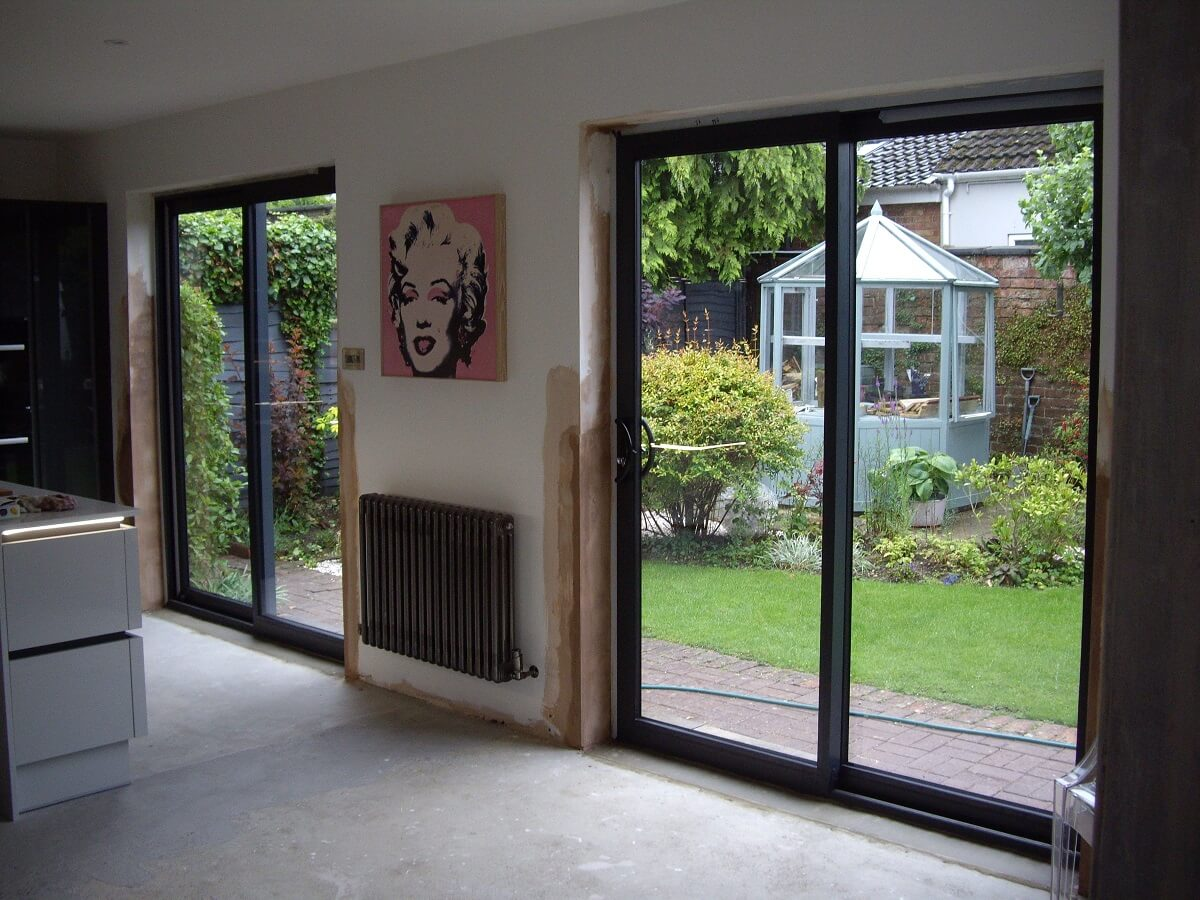 Aluminiun sliding patio doors