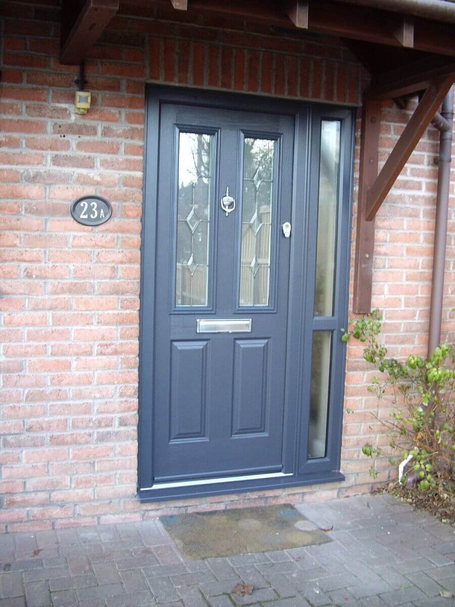 Anthracite Grey Endurance Door with Diamond Glass