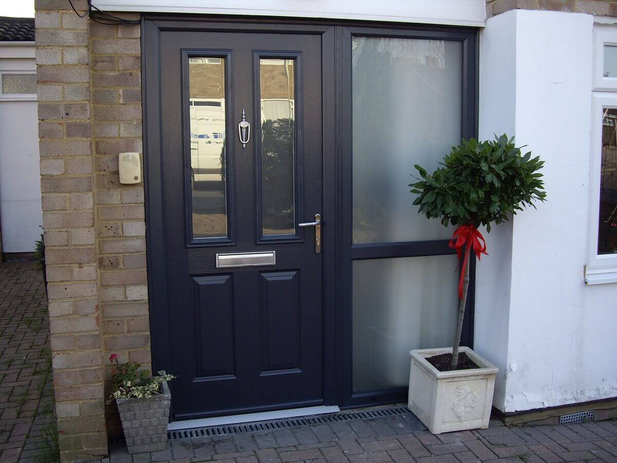 Anthracite Grey Endurance Etna Door with Satin Glass