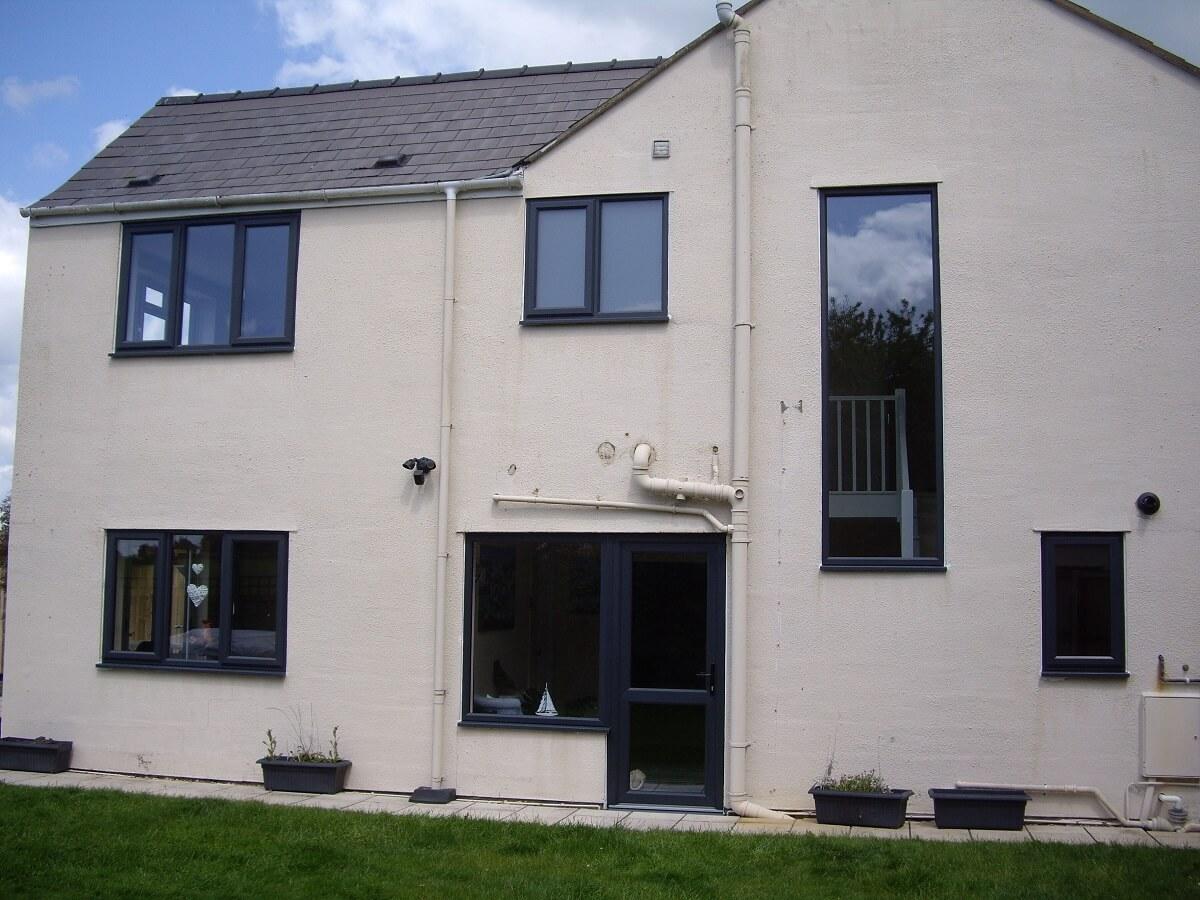 Anthracite Grey PVCu Windows and Door