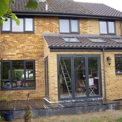 Anthracite Grey windows and bi-folding doors