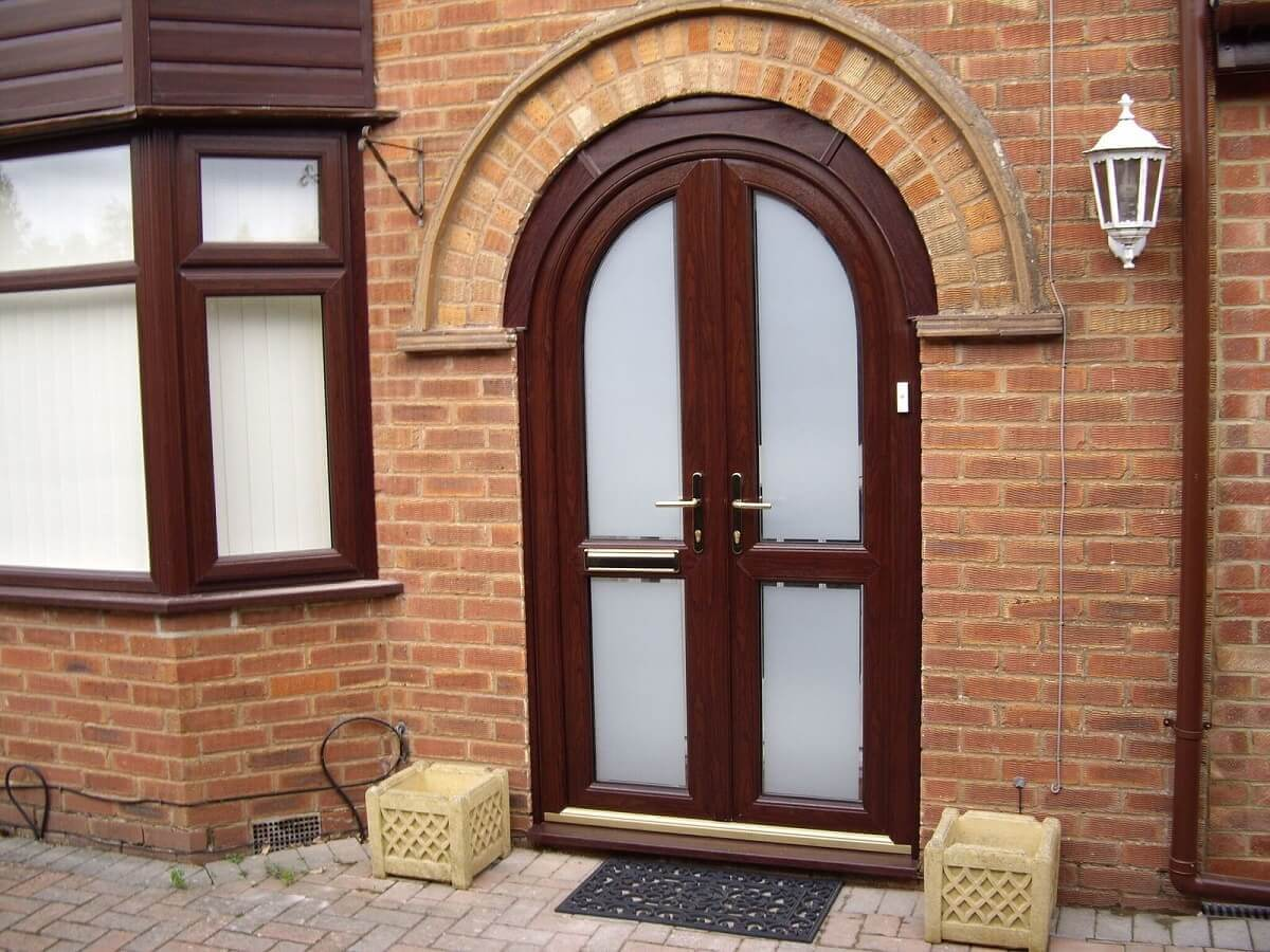 Arched French Doors with Bespoke Glass