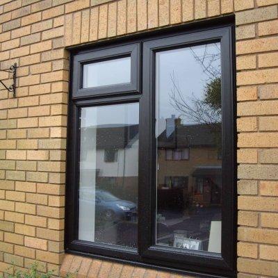 Black PVCu window