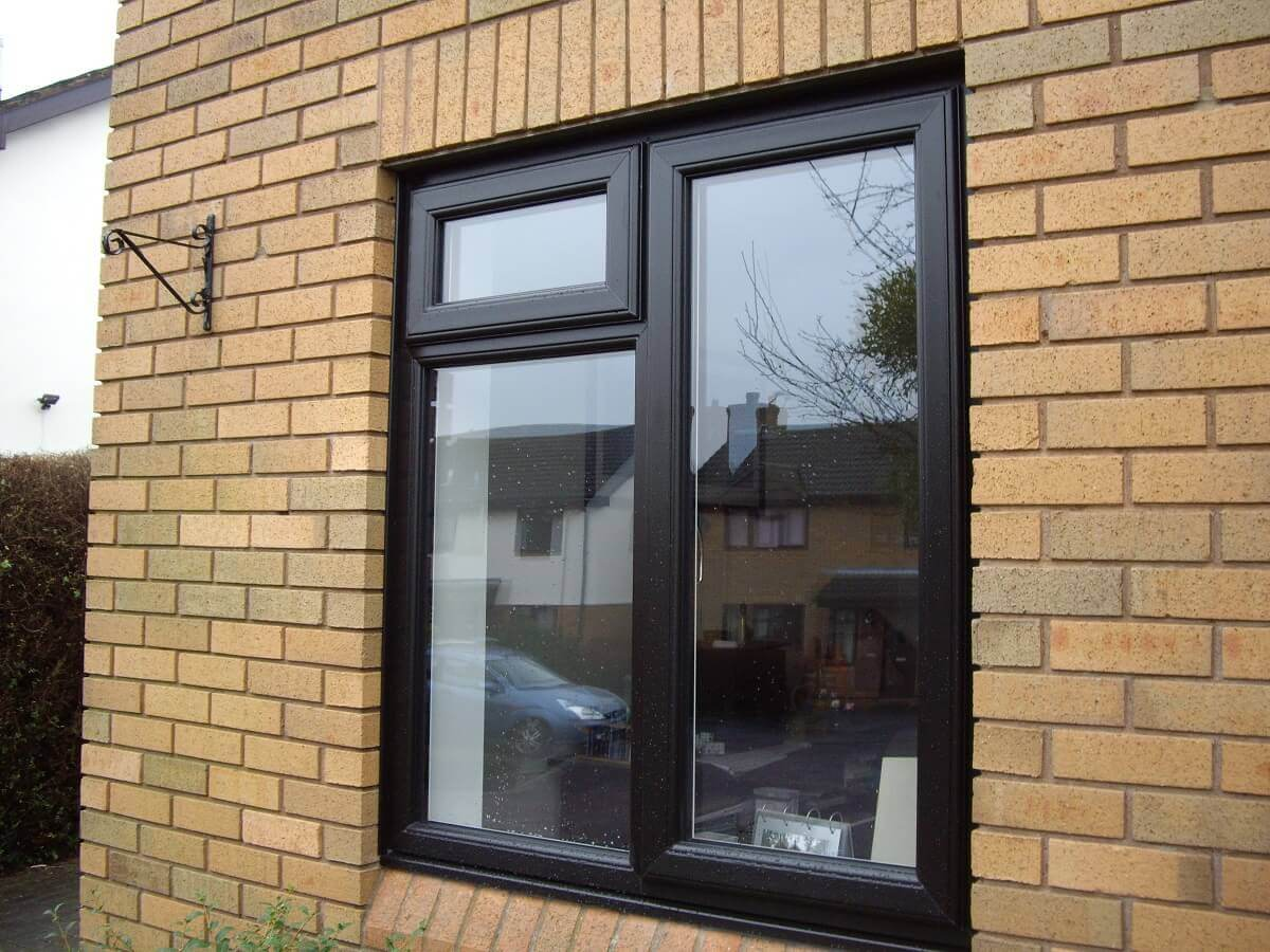 Black PVCu window