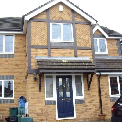Casement Windows with Leaded Glass