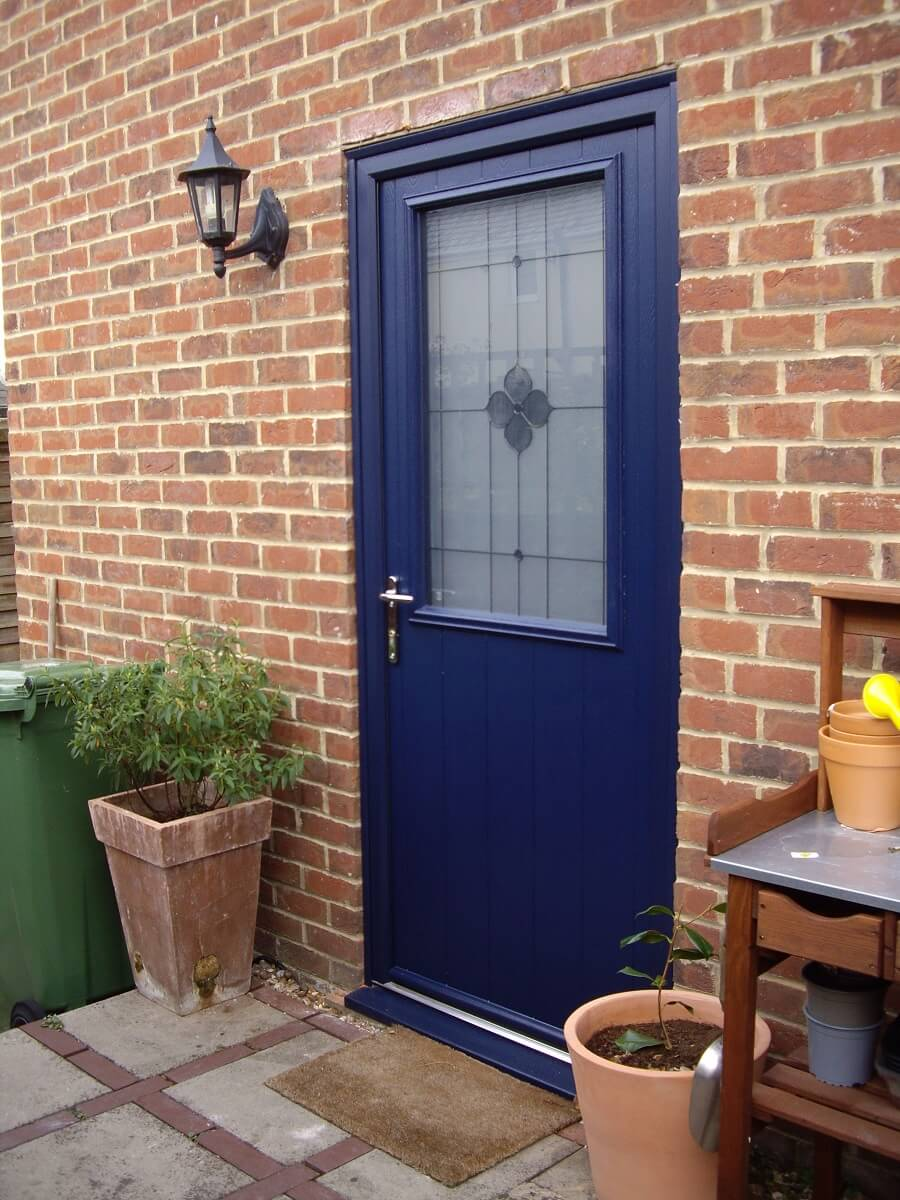 Endurance French Navy Sandford door with Spring glass
