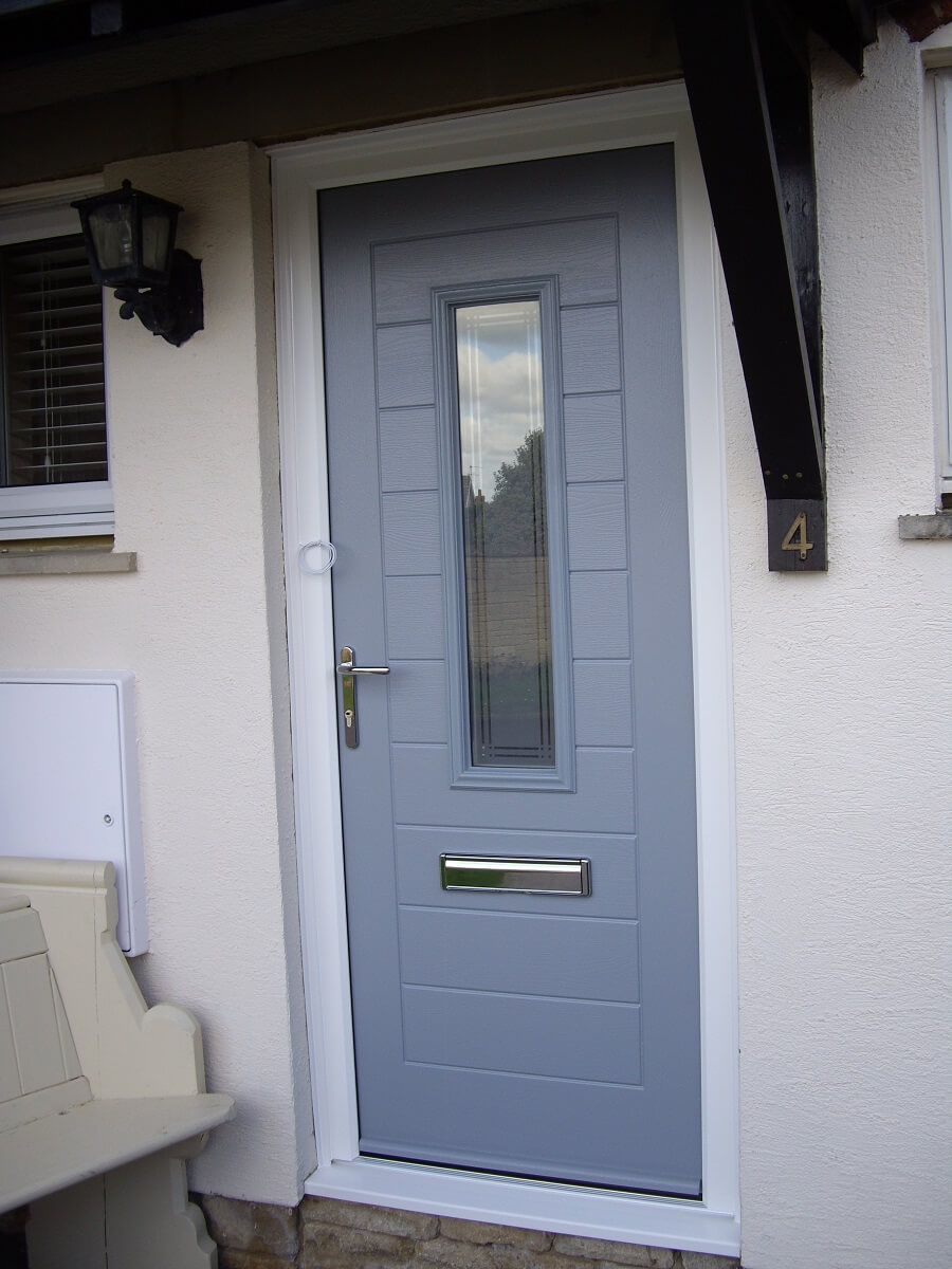 Everton Grey Alto door with Iris glass