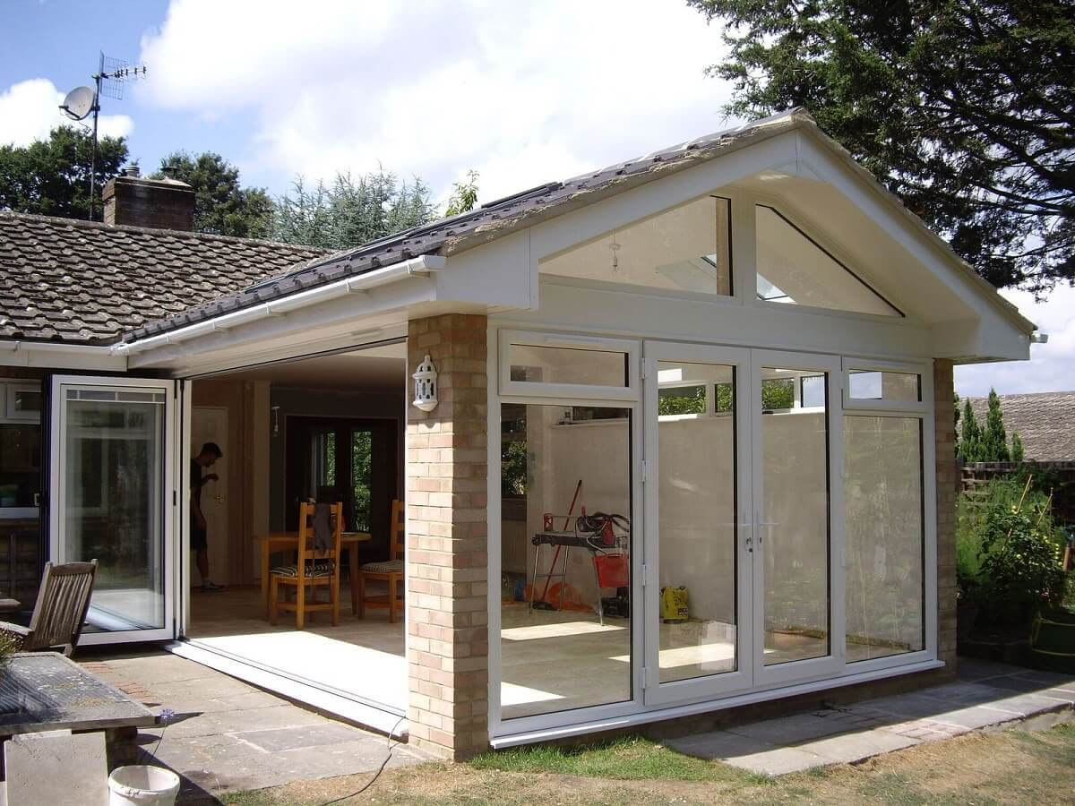 French Doors with Bi-folding Doors
