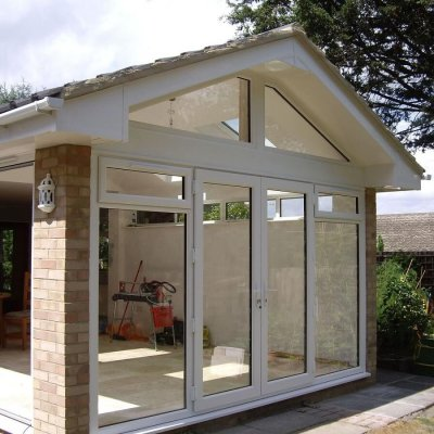 French Doors with Shaped Frames Exterior