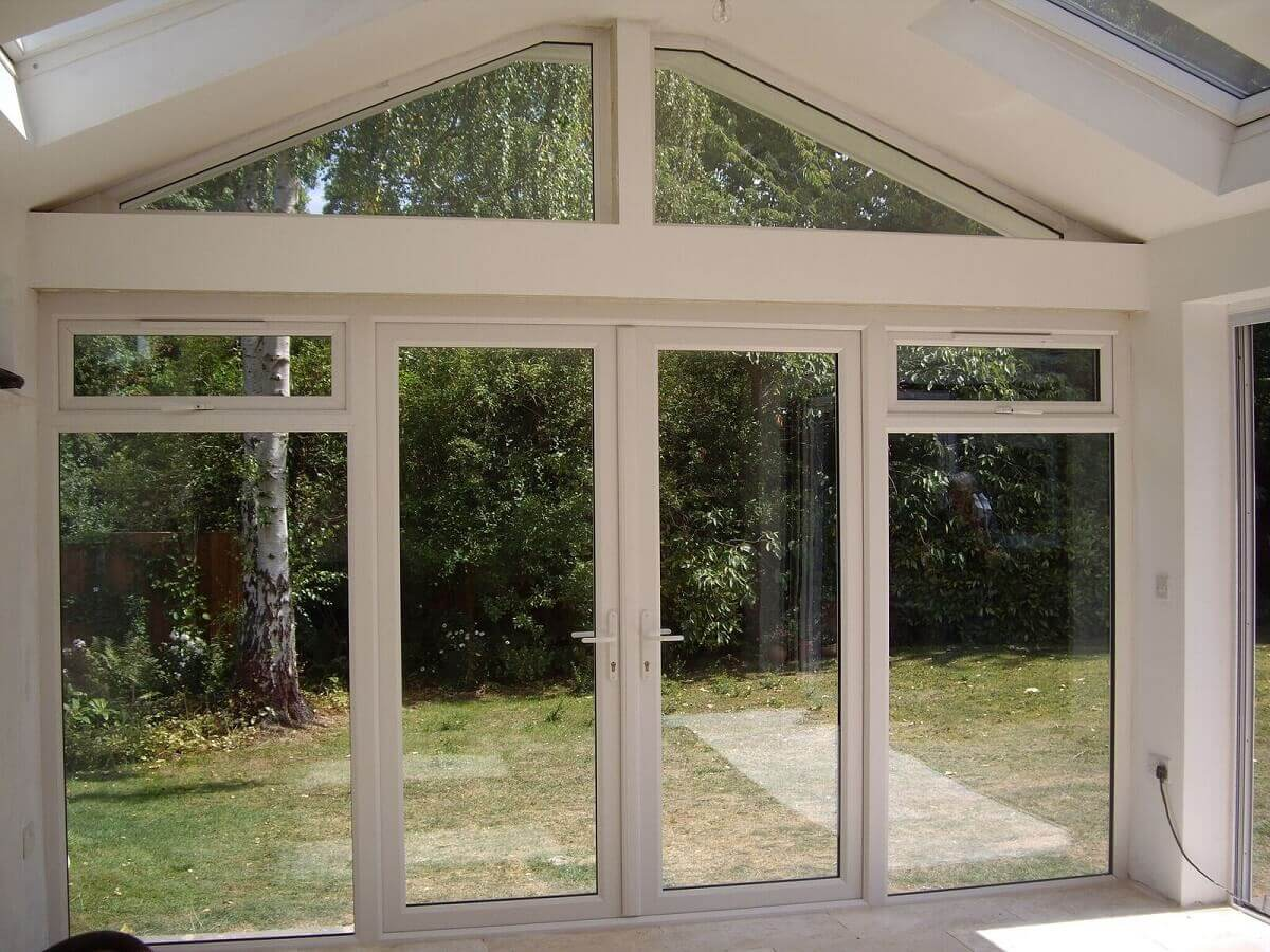 French Doors with Shaped Frames Interior