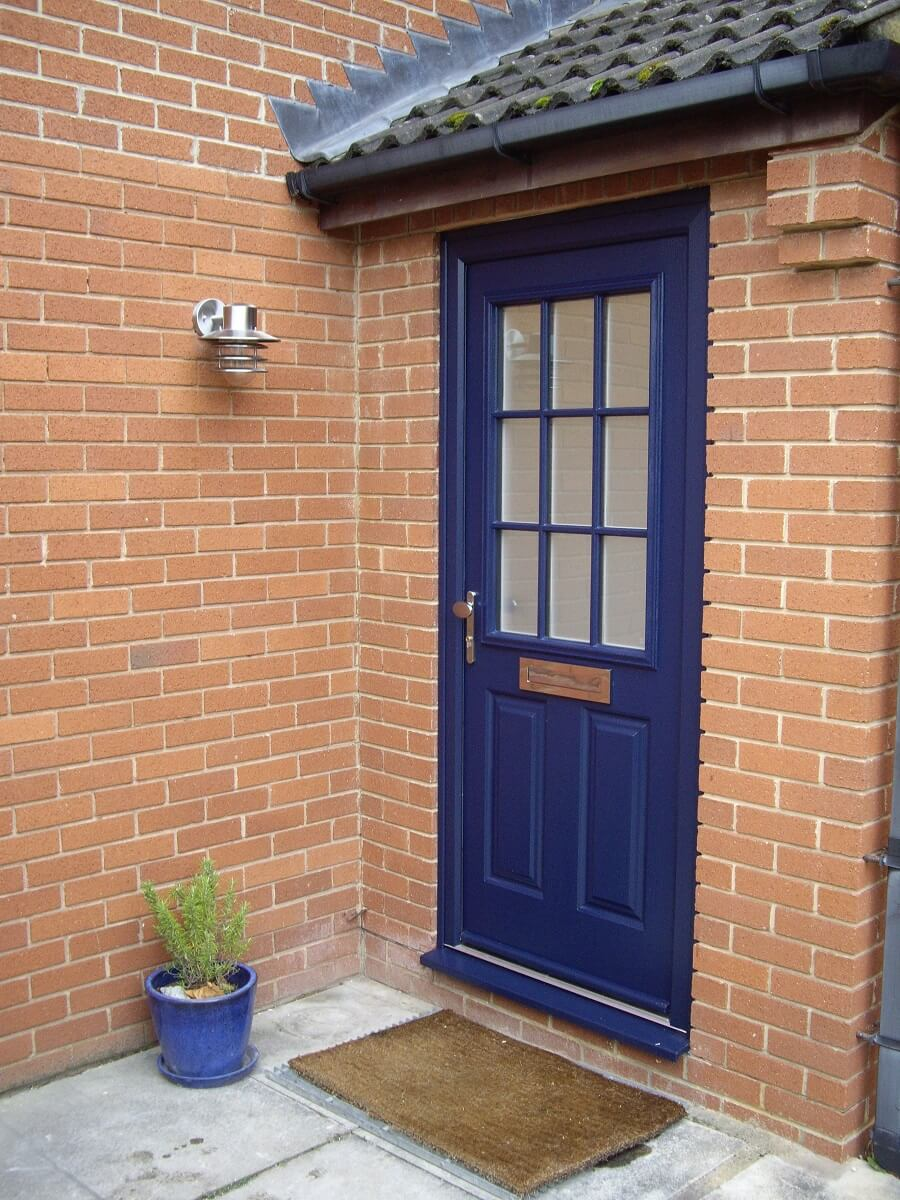 French Navy door with matching frame