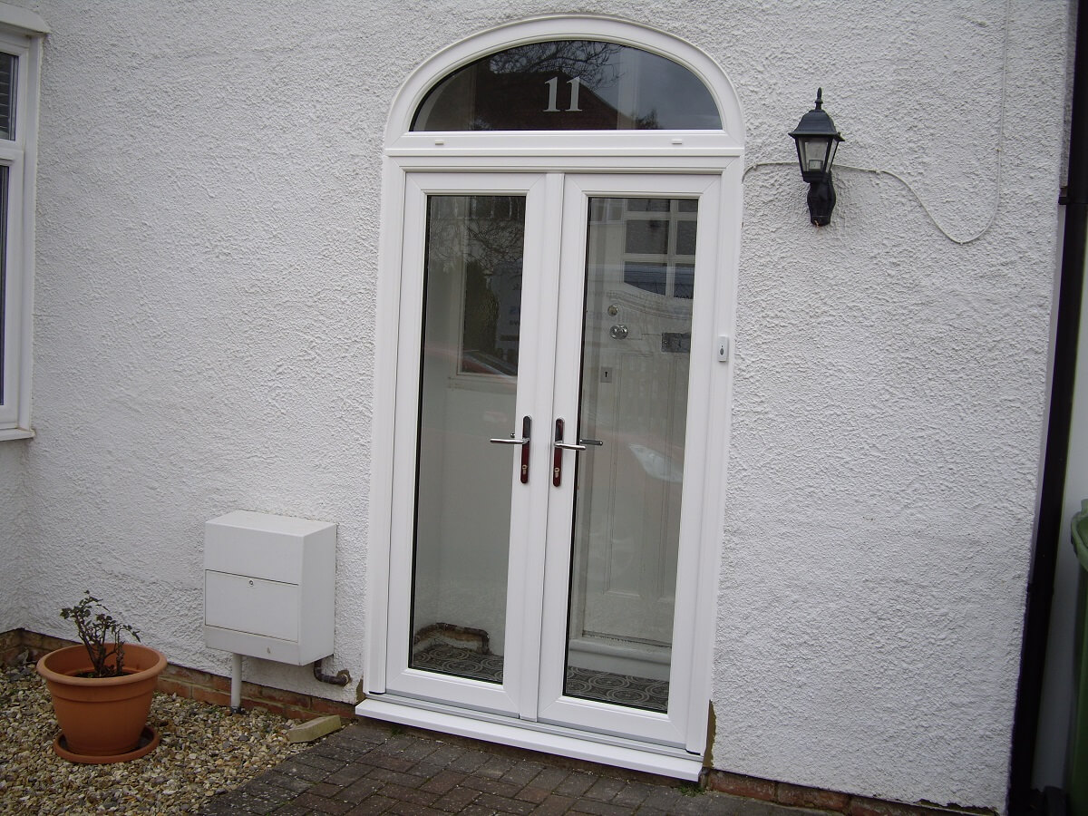 French doors with Arched top light