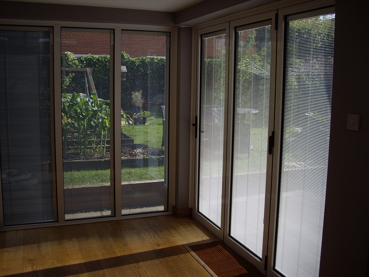 Integral blinds interior view