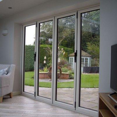 Internal view cream bi-folding doors