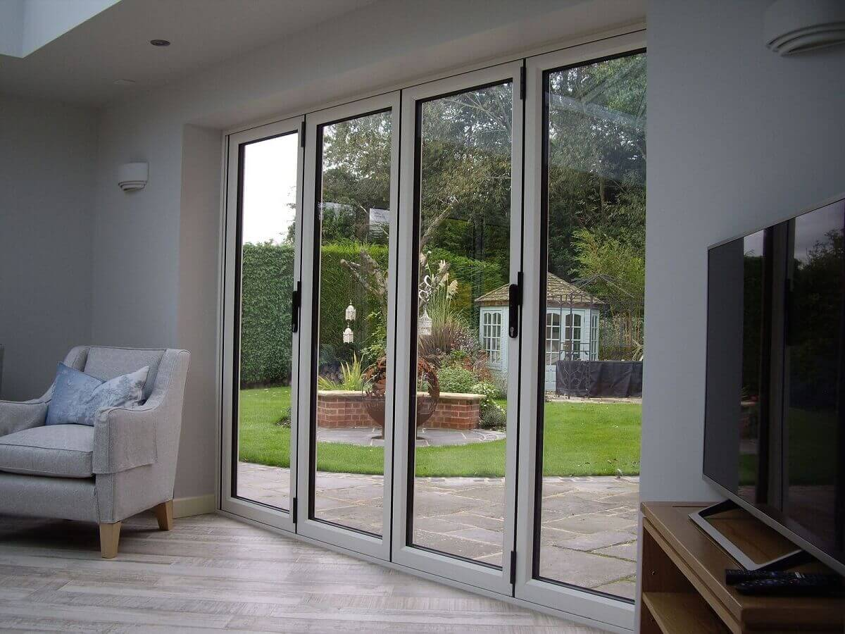 Internal view cream bi-folding doors