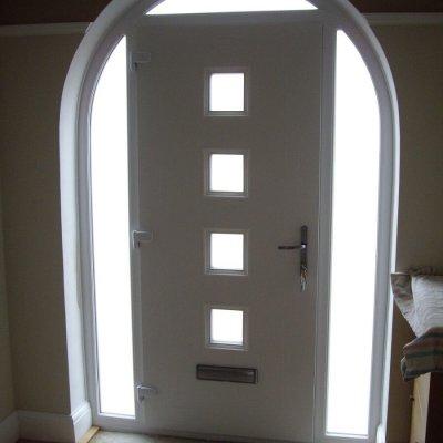 Internal view of shaped Apeer door