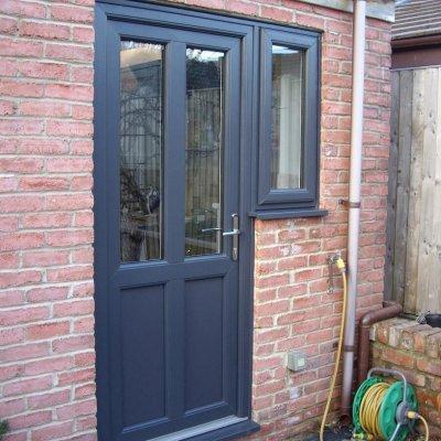 PVCu Door and Flag Window