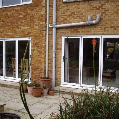 Pair of bi-folding doors to patio