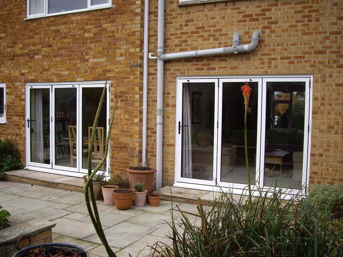 Pair of bi-folding doors to patio