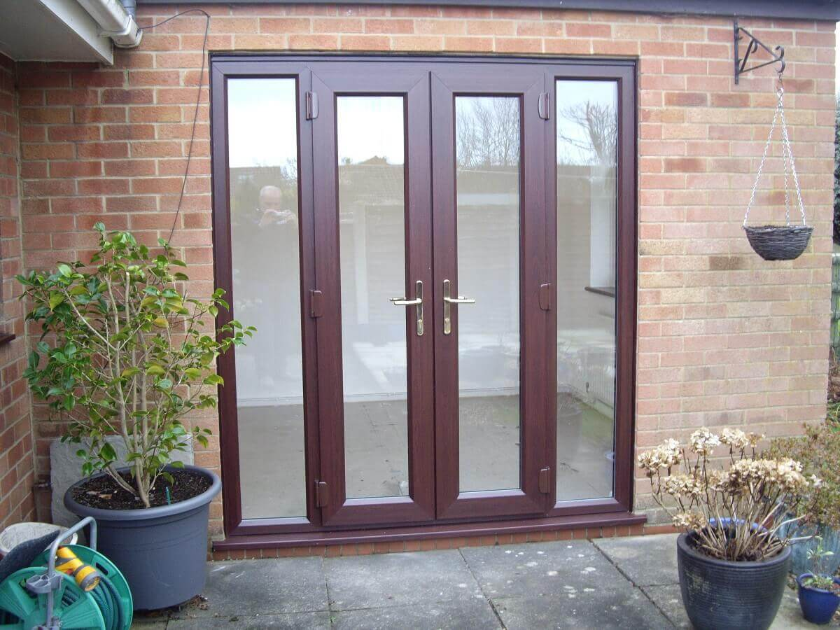 Rosewood french doors with sidescreens