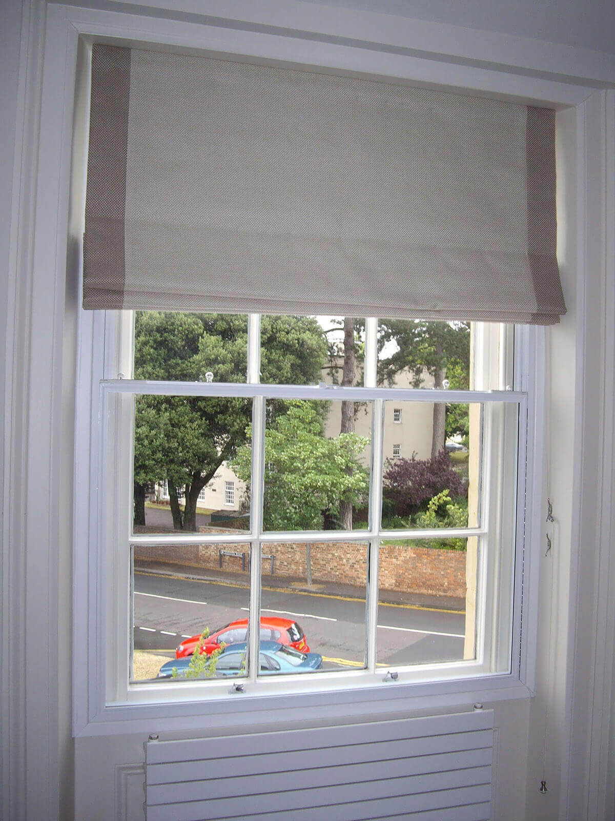 Secondary double glazing with acoustic glass for sound insulation