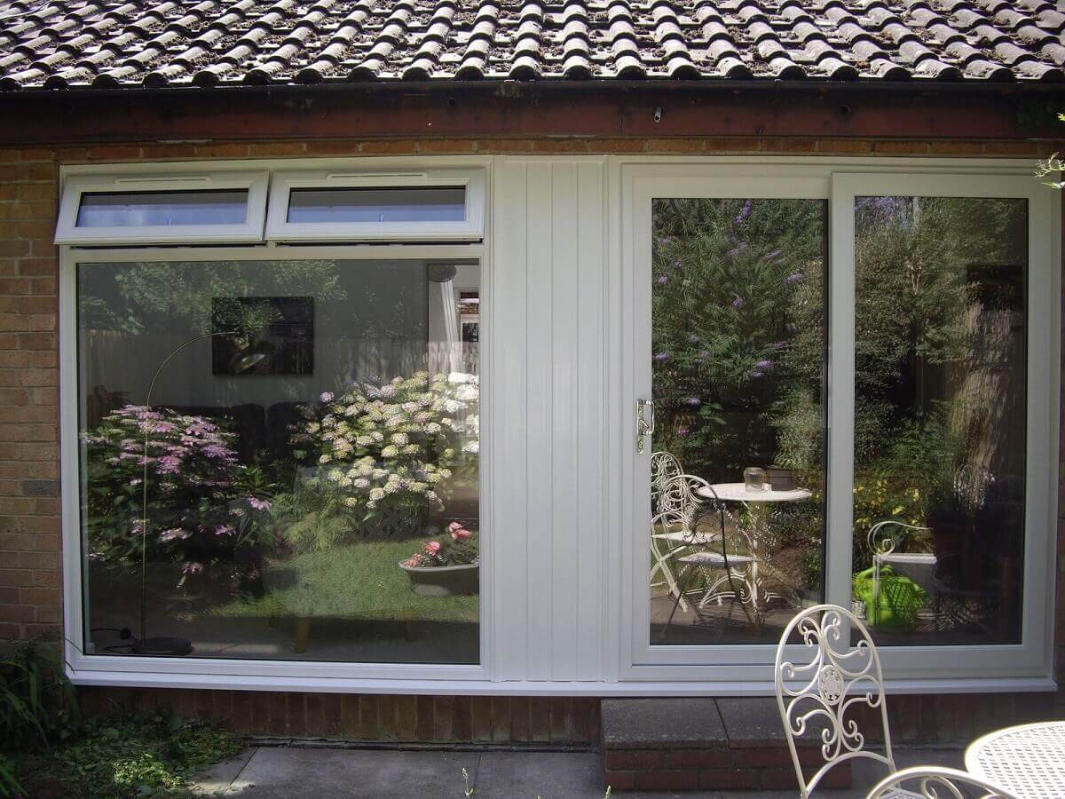 Sliding Patio Doors with Picture Window