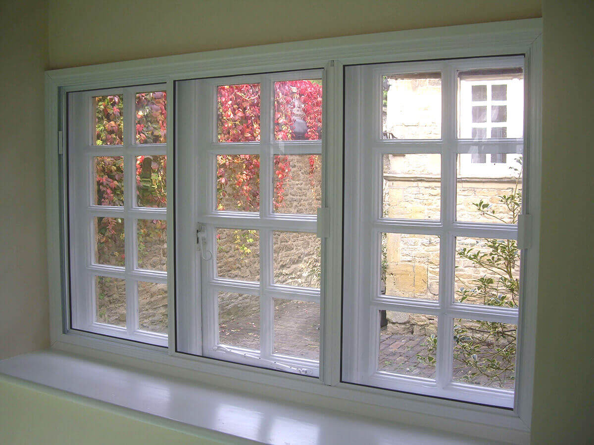 Sliding secondary glazing does not deflect from original charm of exisiting windows